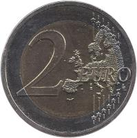 reverse of 2 Euro - Federal States: Nordrhein-Westfalen (2011) coin with KM# 293 from Germany. Inscription: 2 EURO LL