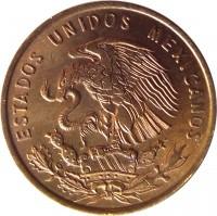 obverse of 1 Centavo (1950 - 1969) coin with KM# 417 from Mexico. Inscription: ESTADOS UNIDOS MEXICANOS
