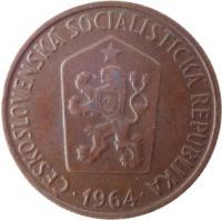 obverse of 50 Haléřů (1963 - 1971) coin with KM# 55 from Czechoslovakia. Inscription: ČESKOSLOVENSKÁ SOCIALISTICKÁ REPUBLIKA