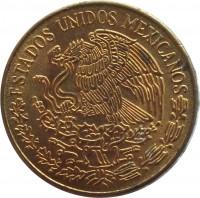 obverse of 5 Centavos - Smaller (1970 - 1976) coin with KM# 427 from Mexico. Inscription: ESTADOS UNIDOS MEXICANOS