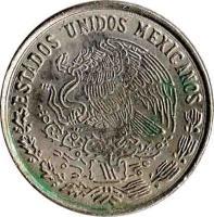 obverse of 10 Centavos (1974 - 1980) coin with KM# 434 from Mexico. Inscription: ESTADOS UNIDOS MEXICANOS