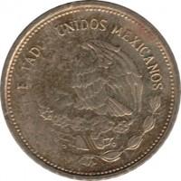 obverse of 5 Pesos (1985 - 1988) coin with KM# 502 from Mexico. Inscription: ESTADOS UNIDOS MEXICANOS