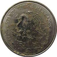obverse of 50 Centavos (1983) coin with KM# 492 from Mexico. Inscription: ESTADOS UNIDOS MEXICANOS