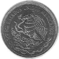 obverse of 50 Pesos (1988 - 1992) coin with KM# 495a from Mexico. Inscription: ESTADOS UNIDOS MEXICANOS