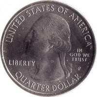 obverse of 1/4 Dollar - El Yunque National Forest, Puerto Rico - Washington Quarter (2012) coin with KM# 519 from United States. Inscription: UNITED STATES OF AMERICA LIBERTY IN GOD WE TRUST QUARTER DOLLAR