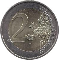 reverse of 2 Euro - Music Day (2011) coin with KM# 1789 from France. Inscription: 2 EURO LL