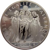 obverse of 10 Euro - Hercules (2012 - 2013) coin with KM# 2073 from France. Inscription: LIBERTÉ ÉGALITÉ FRATERNITÉ 2012