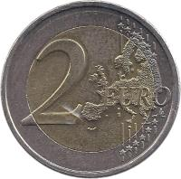 reverse of 2 Euro - Treaty of Rome (2007) coin with KM# 216 from Greece. Inscription: 2 EURO LL