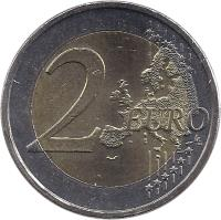 reverse of 2 Euro - 10 Years of EMU (2009) coin with KM# 227 from Greece. Inscription: 2 EURO LL