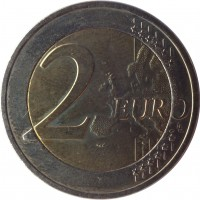 reverse of 2 Euro - Marathon (2010) coin with KM# 236 from Greece. Inscription: 2 EURO LL