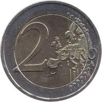 reverse of 2 Euro - Special Olympics (2011) coin with KM# 239 from Greece. Inscription: 2 EURO LL