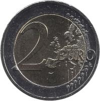 reverse of 2 Euro - 10 Years of Euro Cash (2012) coin with KM# 245 from Greece. Inscription: 2 EURO LL