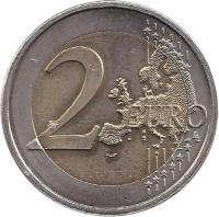 reverse of 2 Euro - Beatrix - Treaty of Rome (2007) coin with KM# 273 from Netherlands. Inscription: 2 EURO LL