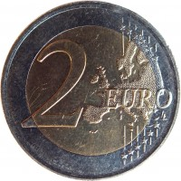 reverse of 2 Euro - Willem-Alexander - 200 years of the Kingdom (2013) coin with KM# 324 from Netherlands. Inscription: 2 EURO LL