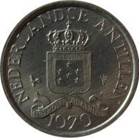 obverse of 1 Cent - Juliana (1979 - 1985) coin with KM# 8a from Netherlands Antilles. Inscription: NEDERLANDSE ANTILLEN 1983 LIBERTATE UNANIMUS