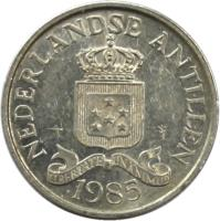 obverse of 2 1/2 Cents - Juliana (1979 - 1985) coin with KM# 9a from Netherlands Antilles. Inscription: NEDERLANDSE ANTILLEN