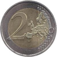 reverse of 2 Euro - Treaty of Rome (2007) coin with KM# 771 from Portugal. Inscription: 2 EURO LL