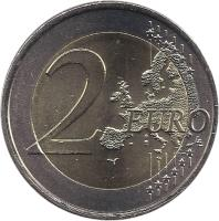 reverse of 2 Euro - Portuguese Republic (2010) coin with KM# 796 from Portugal. Inscription: 2 EURO LL