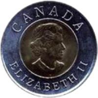 obverse of 2 Dollars - Elizabeth II - Quebec City (2008) coin with KM# 1040 from Canada. Inscription: ELIZABETH II CANADA