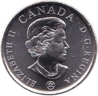 obverse of 25 Cents - Elizabeth II - Armistice Day (2008) coin with KM# 775 from Canada. Inscription: ELIZABETH II CANADA D · G · REGINA
