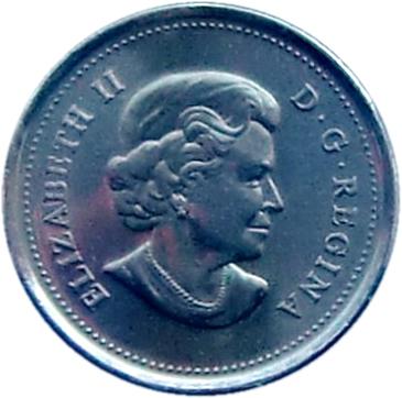 25 Cents - Elizabeth II - Orca - Colourized (2011) Canada KM