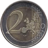 reverse of 2 Euro - Universal Suffrage (2006) coin with KM# 125 from Finland. Inscription: 2 EURO LL