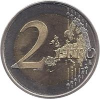 reverse of 2 Euro - 90th Anniversary of Independence (2007) coin with KM# 139 from Finland. Inscription: 2 EURO LL