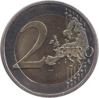 reverse of 2 Euro - Treaty of Rome (2007) coin with KM# 138 from Finland. Inscription: 2 EURO LL