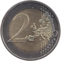 reverse of 2 Euro - Declaration of Human Rights (2008) coin with KM# 143 from Finland. Inscription: 2 EURO LL