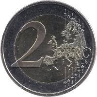 reverse of 2 Euro - 10 Years of Euro Cash (2012) coin with KM# 178 from Finland. Inscription: 2 EURO LL
