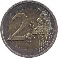 reverse of 2 Euro - Treaty of Rome (2007) coin with KM# 53 from Ireland. Inscription: 2 EURO LL