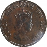 obverse of 1/12 Shilling - Elizabeth II - 1'st Portrait (1957 - 1964) coin with KM# 21 from Jersey. Inscription: QUEEN ELIZABETH THE SECOND