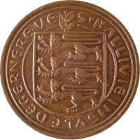 obverse of 2 New Pence - Elizabeth II (1971) coin with KM# 22 from Guernsey. Inscription: S'BALLIVIE INSVLE DE GERNERE VE