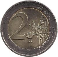 reverse of 2 Euro - Henri I - Monogramme (2004) coin with KM# 85 from Luxembourg. Inscription: 2 EURO LL