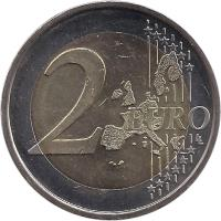 reverse of 2 Euro - Henri I - Guillaume (2006) coin with KM# 88 from Luxembourg. Inscription: 2 EURO LL