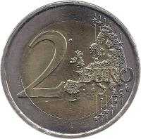 reverse of 2 Euro - Henri I - Treaty of Rome (2007) coin with KM# 94 from Luxembourg. Inscription: 2 EURO LL