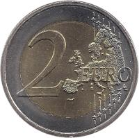 reverse of 2 Euro - Henri I - Chateau de Berg (2008) coin with KM# 96 from Luxembourg. Inscription: 2 EURO LL