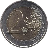 reverse of 2 Euro - Henri I - Duke Henri (2010) coin with KM# 115 from Luxembourg. Inscription: 2 EURO LL