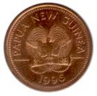 obverse of 2 Toea - Elizabeth II (1975 - 2004) coin with KM# 2 from Papua New Guinea. Inscription: PAPUA NEW GUINEA 1975
