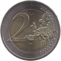 reverse of 2 Euro - Visegrad Group (2011) coin with KM# 114 from Slovakia. Inscription: 2 EURO LL