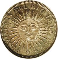 obverse of 1 Sol (1815) coin with KM# 11 from Argentina.