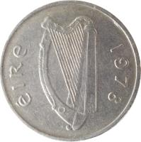 obverse of 5 Pingin - Larger (1969 - 1990) coin with KM# 22 from Ireland. Inscription: éIRe 1978