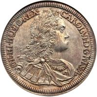obverse of 1 Speciestaler - Karl VI - Hall mint (1724 - 1734) coin with KM# 1617 from Austria.