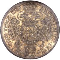 reverse of 1 Speciestaler - Karl VI - Hall mint (1724 - 1734) coin with KM# 1617 from Austria.