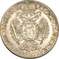 reverse of 1 Speciestaler - Karl VI - Hall mint (1714 - 1718) coin with KM# 1570 from Austria.