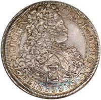 obverse of 1 Speciestaler - Karl VI - Vienna mint (1712 - 1718) coin with KM# 1522 from Austria.