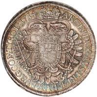 reverse of 1 Speciestaler - Karl VI - Vienna mint (1712 - 1718) coin with KM# 1522 from Austria.