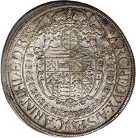 reverse of 1 Speciestaler - Ferdinand III - Saint Veit mint (1645 - 1657) coin with KM# 924 from Austria.