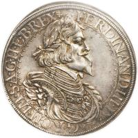 obverse of 1 Speciestaler - Ferdinand III - Saint Veit mint (1638 - 1642) coin with KM# 858 from Austria.