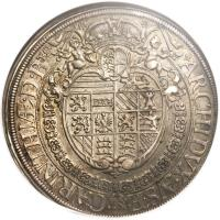 reverse of 1 Speciestaler - Ferdinand III - Saint Veit mint (1638 - 1642) coin with KM# 858 from Austria.